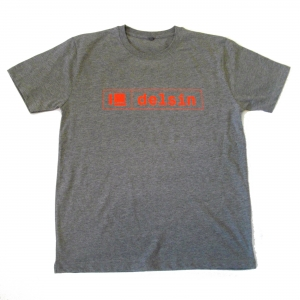 Delsin Text Melange Grey / Red Print