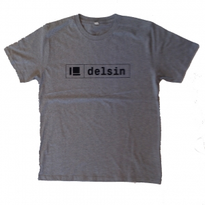 Delsin Text Melange Grey / Dark Print